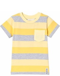 Geggamoja Yellow And Grey Stripe T Shirt