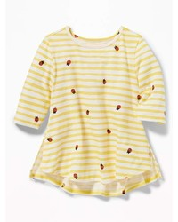 Old Navy Graphic Slub Knit Tunic For Toddler Girls