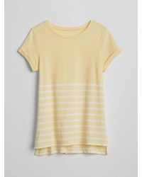 Gap Stripe Step Hem T Shirt