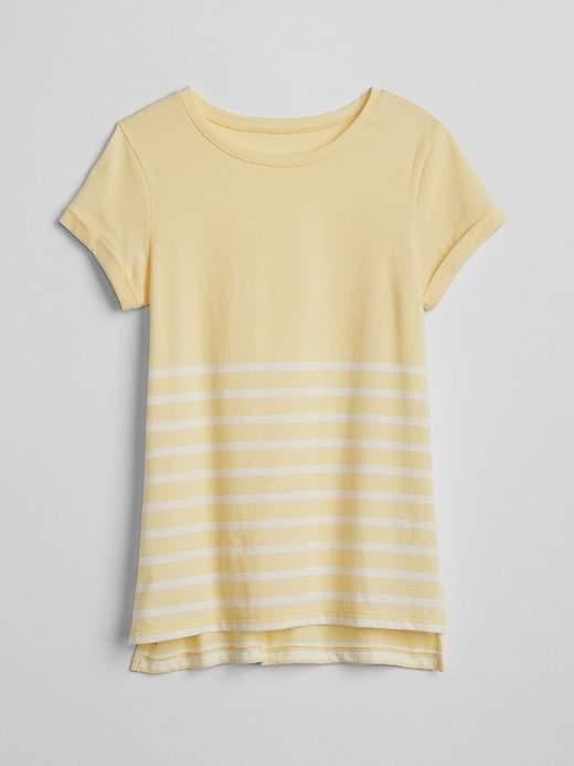 Gap Stripe Step Hem T Shirt