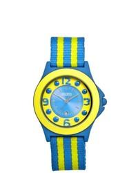Other Crayo Carnival Yellow Blue Nylon Analog Watch
