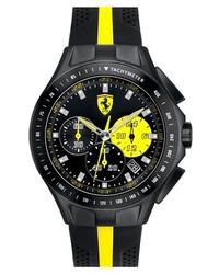 Scuderia Ferrari Race Day Chronograph Watch 44mm Black Yellow