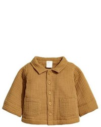H&M Double Weave Cotton Jacket Mustard Yellow Kids