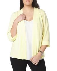 Plus size crepe panel jacket medium 4412833