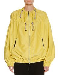 Water resistant zip jacket acid yellow medium 3995478