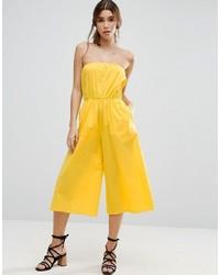 Bandeau jumpsuit in cotton medium 3727917