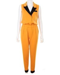 ChicNova Candy Color Sleeveless Lapel Jumpsuit With Contrast Cuffs