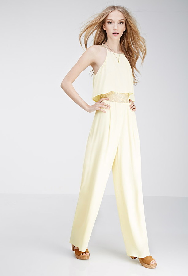 Forever 21 Layered Lace Paneled Jumpsuit Where To Buy How To Wear