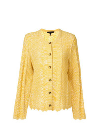 Marc Jacobs Long Sleeve Scalloped Cardigan