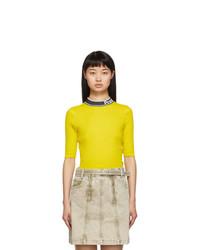 Proenza Schouler Yellow And Black Knit Combo T Shirt