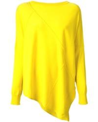Yellow Knit Oversized Sweater