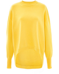 Cédric Charlier Yellow Cashmere Merino Pullover Yellow
