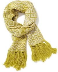 Old Navy Jacquard Fringe Scarf For