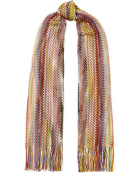 Missoni Fringed Crochet Knit Wrap