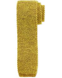 Skinny knit tie bright yellow medium 179344