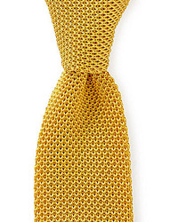 Trademark knit solid traditional silk tie medium 179343