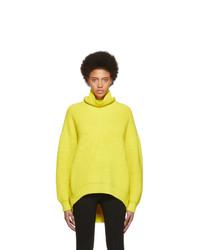 Givenchy Yellow Oversized Turtleneck