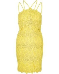 River Island Yellow Cornelli Dress