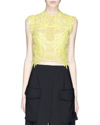 Erdem Caissa Guipure Lace Cropped Top