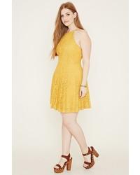 c76b5fd4de4c Forever 21 Plus Size Lace Cami Dress, $24   Forever 21   Lookastic.com