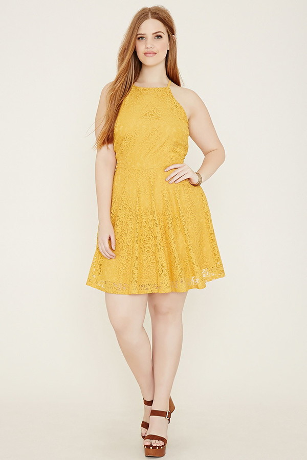 Forever 21 Plus Size Lace Cami Dress, $24 | Forever 21 | Lookastic.com