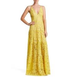 Melina lace fit flare maxi dress medium 5254891