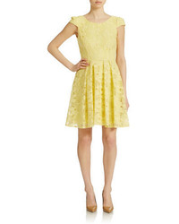 Betsey Johnson Lace Fit And Flare Dress