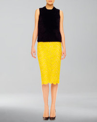 Michael Kors Lace Pencil Skirt Michl Kors