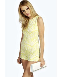 3b4d144c3d7 Yellow Lace Playsuits for Women