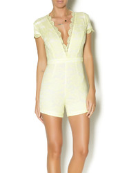 43fd5d141a7 Boohoo Nadine Neon Crochet Overlay Playsuit Out of stock · Luxe Lemon Lace  Romper