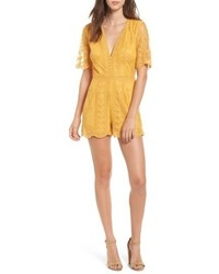 bca80b7ecfa Missguided Lace High Neck Playsuit Yellow Out of stock · Socialite Plunging Lace  Romper
