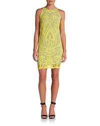Embroidered lace sheath dress medium 108573