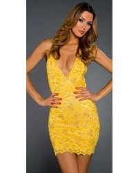 35a68d7d344 Yellow Lace Sheath Dresses for Women