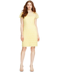 Lauren Ralph Lauren Crocheted Lace Short Sleeve Dress