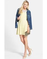 BB Dakota Renley Lace Fit Flare Dress