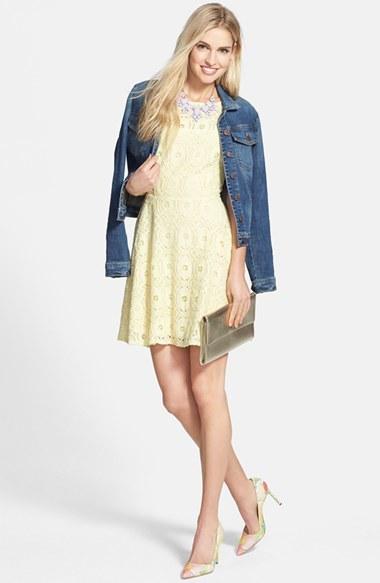 Bb dakota renley lace fit and flare dress