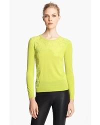 Nina ricci lace inset sweater medium 314460