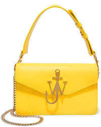 J.W.Anderson Logo Leather Shoulder Bag Yellow