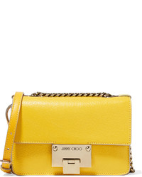 Jimmy Choo Rebel Mini Textured Leather Shoulder Bag Yellow