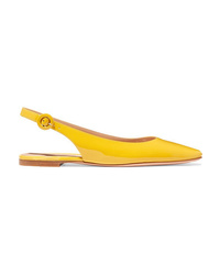 Gianvito Rossi Patent Leather Slingback Flats