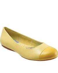 SoftWalk Napa Pale Yellowyellow Soft Dull Leather Ballet Flats