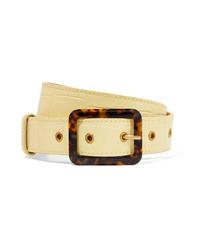 Staud Croc Effect Leather Belt