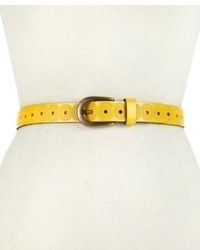 Fossil Belt Floral Embossed Leather Belt