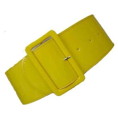 luxury divas yellow patent leather 3 wide elastic corset