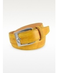 Pakerson Yellow Hand Painted Italian Leather Belt