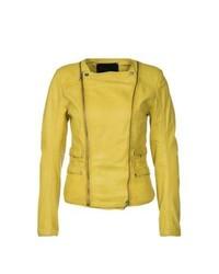 Goosecraft Gallery Leather Jacket Yellow