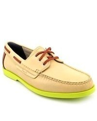 Cole Haan Fire Island Boat Ivory Leather Boat Shoes
