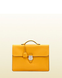 Gucci leather briefcase medium 142356