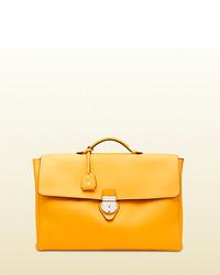 Gucci leather soft briefcase medium 142355