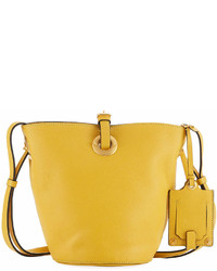 Valentino Garavani Leather Bucket Bag Yellow